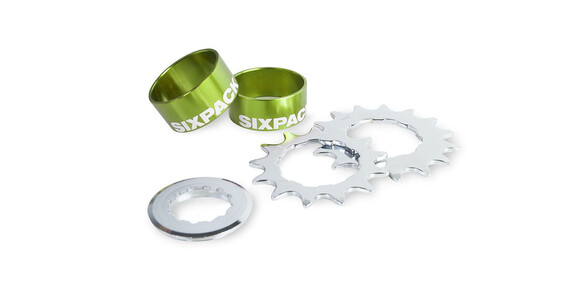 Sixpack Single Speed Kit - Cassette - verde
